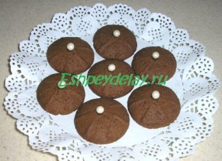Печенье шоколадное с каштаном
