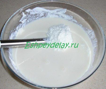 Добавленное молоко с желатином