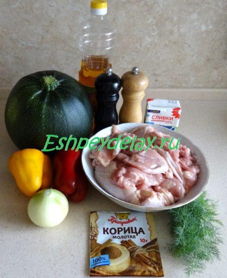Рецепт рагу из курицы с корицей