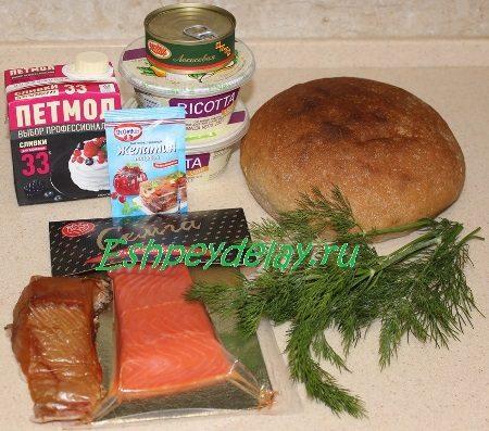 Рецепт рыбного чизкейка
