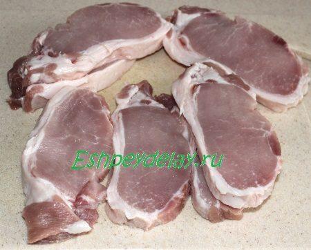 Порезанное мясо