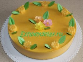 Торт из тыквы без выпечки