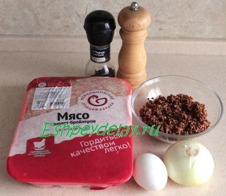 Рецепт запеканки с куриного фарша и гречкой
