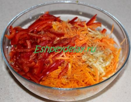 Заправленный салатик