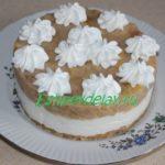 Карамельный торт « Яблоки на снегу»