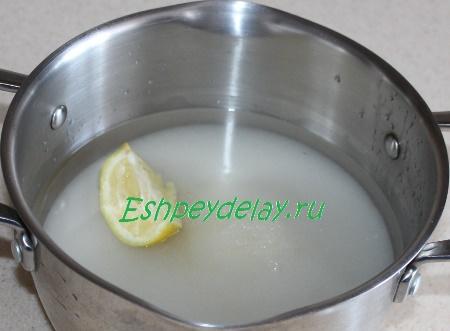Наливаем воды