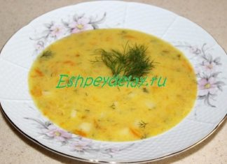 Суп из кабачка с плавленым сыром